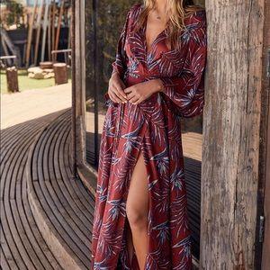 Amuse Society Isle Of Love Leaf Wrap Maxi Dress!